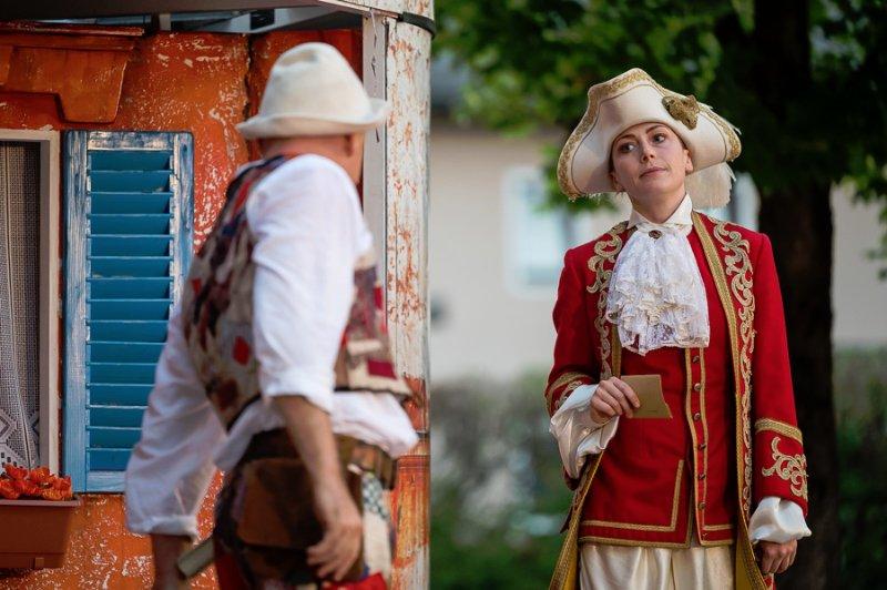 Aufführung des Salzburger Straßentheaters in Seekirchen am 29.07.2021.